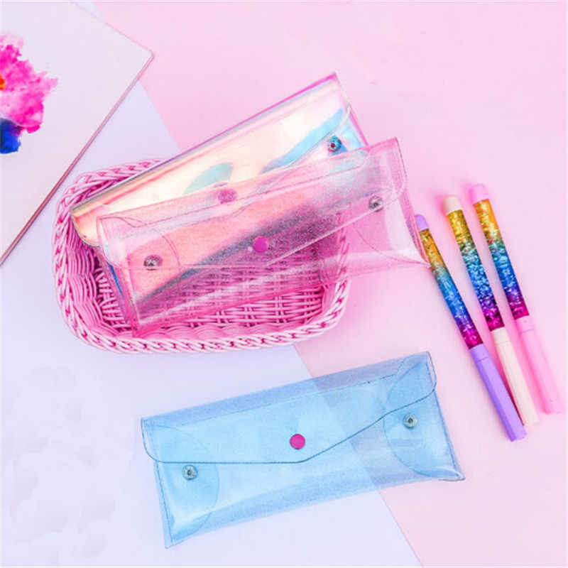PVC Holographic Transparent Cosmetic Bags Womens Makeup Bag Hologram Laser Cosmetic Case Toiletry Portable Beauty Pouch