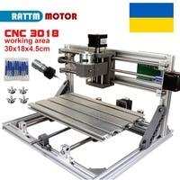 UA Free Ship!! CNC 3018 GRBL control Diy CNC machine 30x18x4.5cm,3 Axis Pcb Pvc Milling machine Wood Router laser engraving v2.5