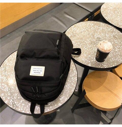HTB1jPN5XNv1gK0jSZFFq6z0sXXa7 Nylon Backpack Women Backpack Solid Color Travel Bag Large Shoulder Bag For Teenage Girl Student School Bag Bagpack Rucksack