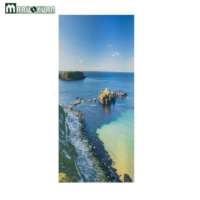 Maruoxuan 77*200 cm Strand Reef Landschap 3D Deur Sticker Thuis ...