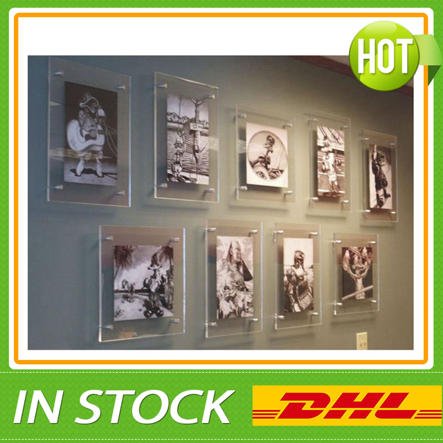 free shipping wholesale a1 wall mounted acrylic poster frames in