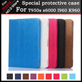 2016 newest PU leather case for 9.6 inch T950s s6000 I960 K960 MTK6582 MTK6592 MTK8752 3G 4G phone call tablet 9.6 inch case