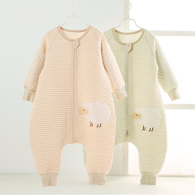 Factory wholesale natural organic cotton baby sleeping bag split sleeping bags of spring and summer autumn and winter cotton bab