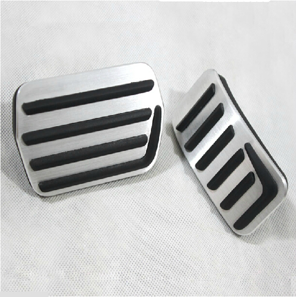 Aluminum Car Fuel Brake Pedal Covers For VOLVO XC60 S60 S60L S80L V60 C30 Accessorios