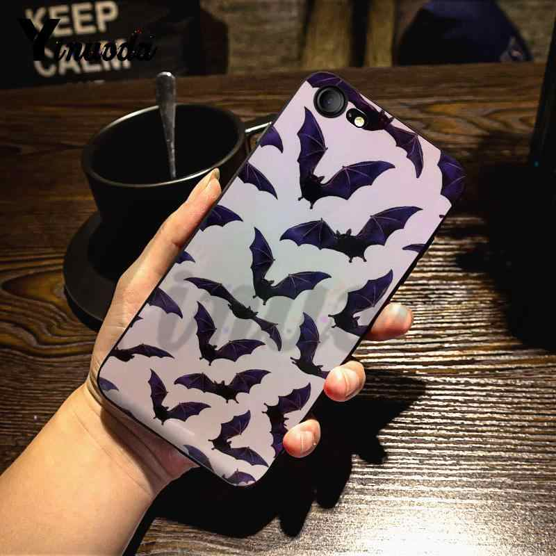 Yinuoda Cho iPhone 7 6 X Ốp Lưng Động Vật Ma Cà Rồng Đen Bát Thời Trang Chất Lượng Ốp Lưng điện thoại iPhone 7 6X8 6 S Plus 5 XS XR XS XR