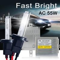 Fast Bright HID Kit AC 55W H7 Xenon H4 H1 H3 H11 9005 9006 881 D2S