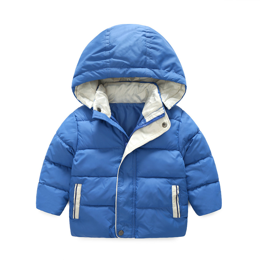 Boys Parka European Blue Cotton Padded Jacket Children Autumn Hooded Thick Warm Coat Kids Fashion Winter Jackets For Boys 2017 children winter coats jacket baby boys warm outerwear thickening outdoors kids snow proof coat parkas cotton padded clothes