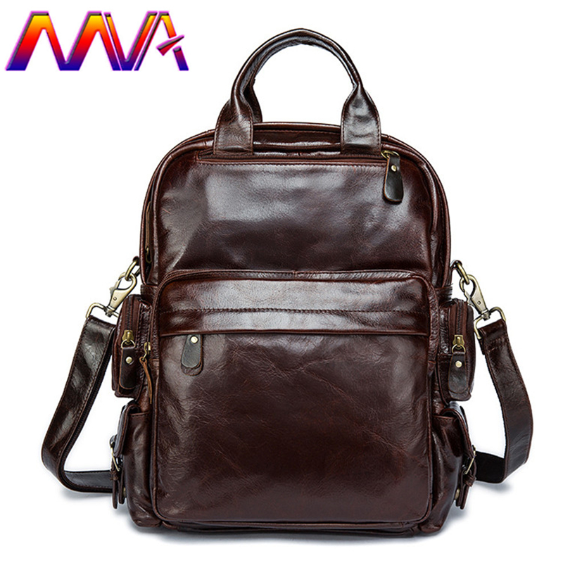 MVA Coffee men backpack for fashion women leather backpack with 100% genuine leather men backpack for lady casual backpacks mva best quality cowhide leather men backpack for fashion travelling bag with genuine leather men backpack or crossbody bags