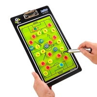 Football PVC Tactics Board Soccer Teaching Board Coach Plate + Pen with Eraser Game Test Plan Equipment Double Erasable Sided