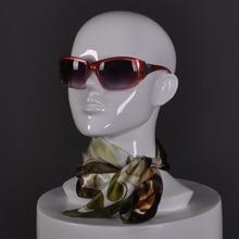 купить Fiberglass Female Mannequin Head, Abstract White Manikin Head For Hat /Wig/Sunglass Display дешево