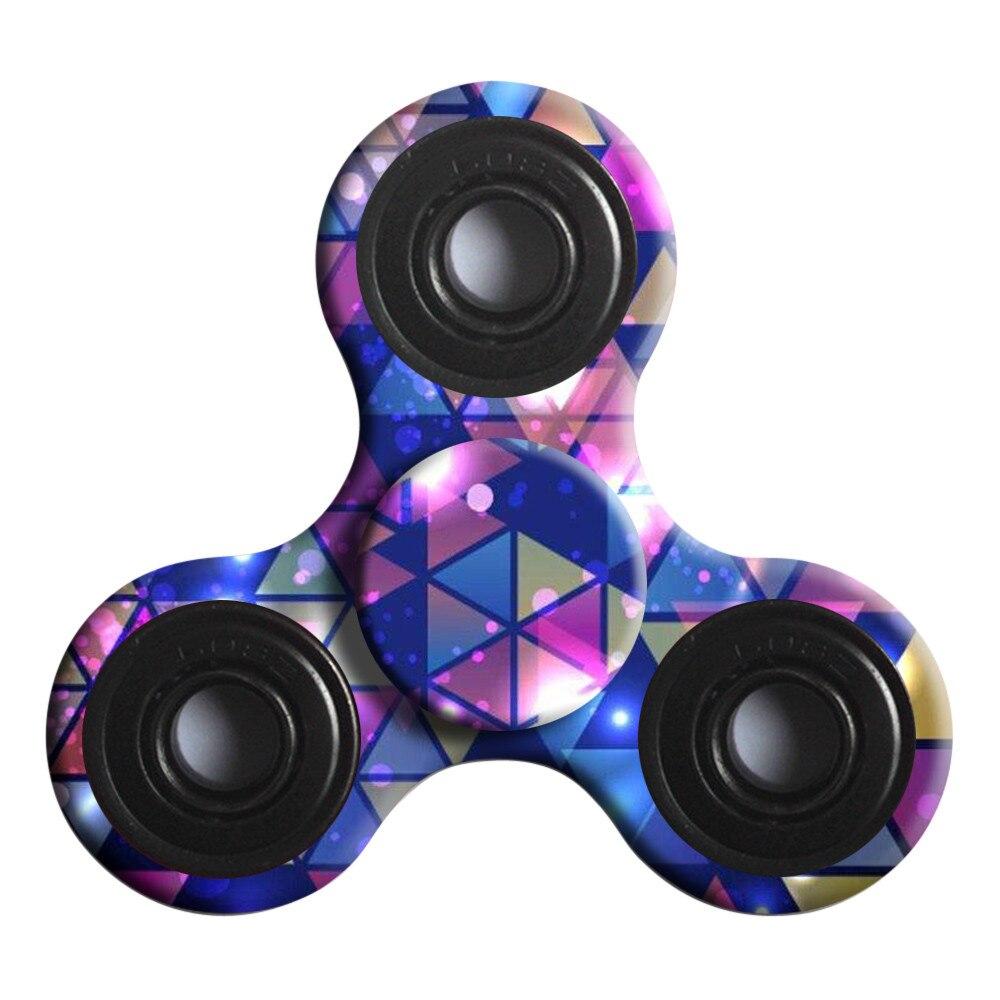 Puzzle Entertainment Fingertips Stress Reliever Hand Spinner Tri Fidget Ball Desk Toy EDC Stocking Stuffer Kids