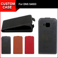 Luxury flip vertical cover bag flip up and down PU Leather Case for DNS S4003, free gift