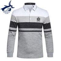 New Arrival Tace Shark Polo Shirt Men Long Sleeve High Quality Smart Casual Cotton Lapel Camisa
