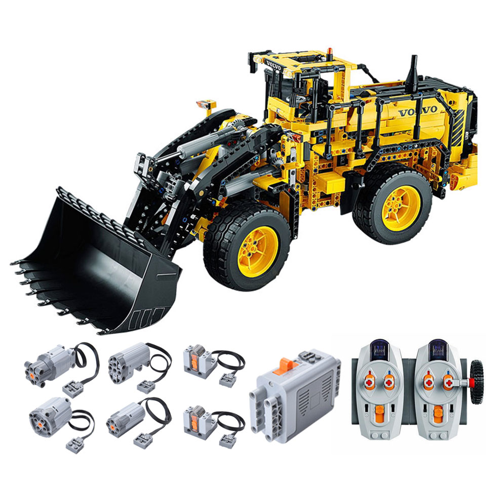 Adaptable 2 In 1 Rc Volvo Loader Legoing Technic 42030 Building Blocks 1636 Piece Bricks Boys Birthday Gifts Kids Remote Control Car Toys With A Long Standing Reputation
