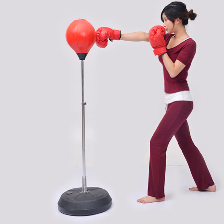 ФОТО Adjustable Freestanding Reflex Punching Bags Solid Ball Boxing Speed Bag for Adult&Kids Exclusive patented tension adjustment