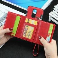 Роскошный кожаный чехол для LG Q7 плюс Чехол Q7 Альфа с откидной крышкой для задней панели бумажник с отделением для карт и рисунком противоуда...