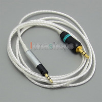 LN004793 3.5mm 5N OCC + Silver Plated Copper 0.5m 1.3m 1.8m 2.5m Cable For Sennheiser Momentum Over On Ear Headset Earphone