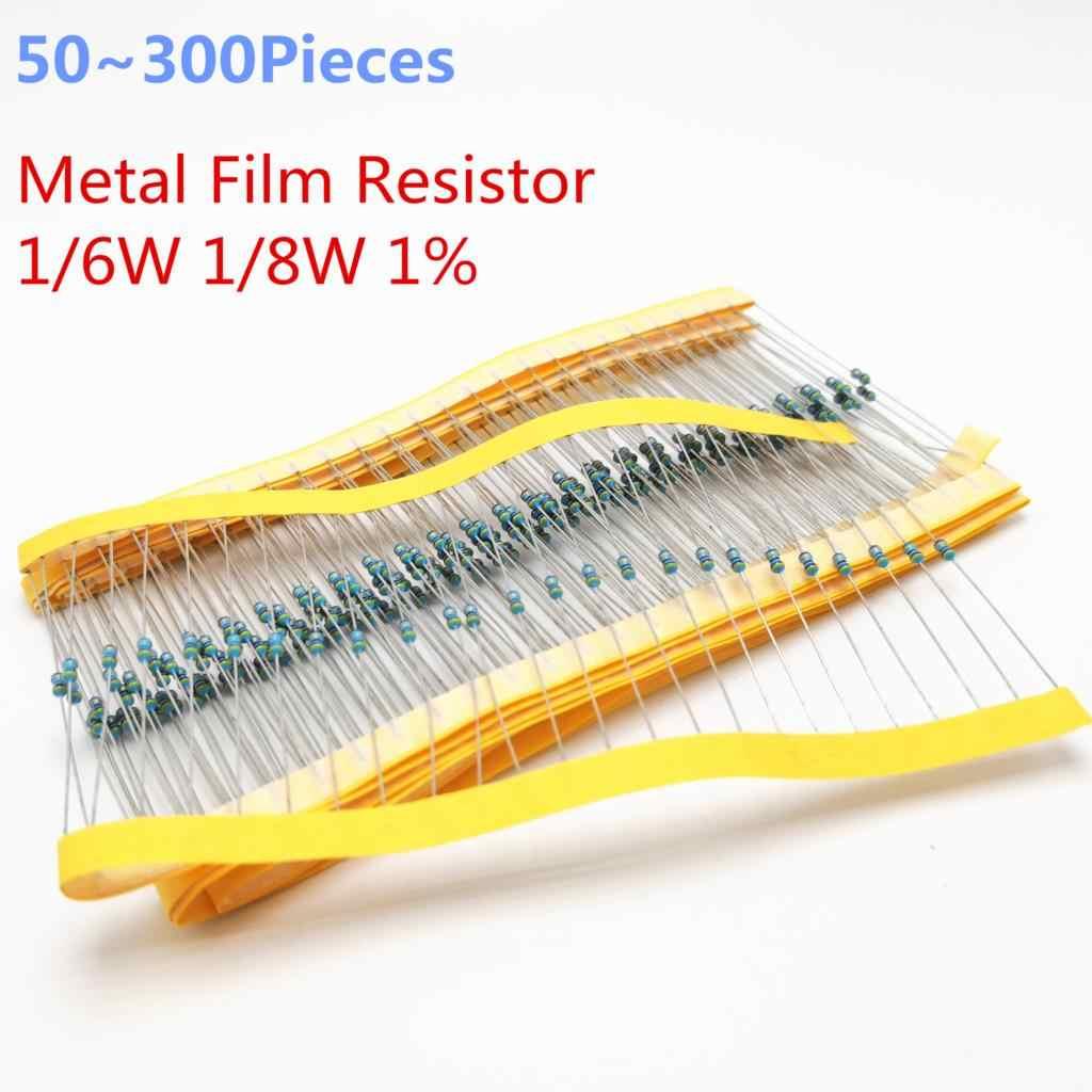 50 ~ 300 stuks 1/6 W Originele 4.7 Kohm 1/6 W gelijk aan 1/8 W 1% Radial DIP Metalen Film Axiale Weerstanden 4.7 K ohm 0.125 W 0.167 W