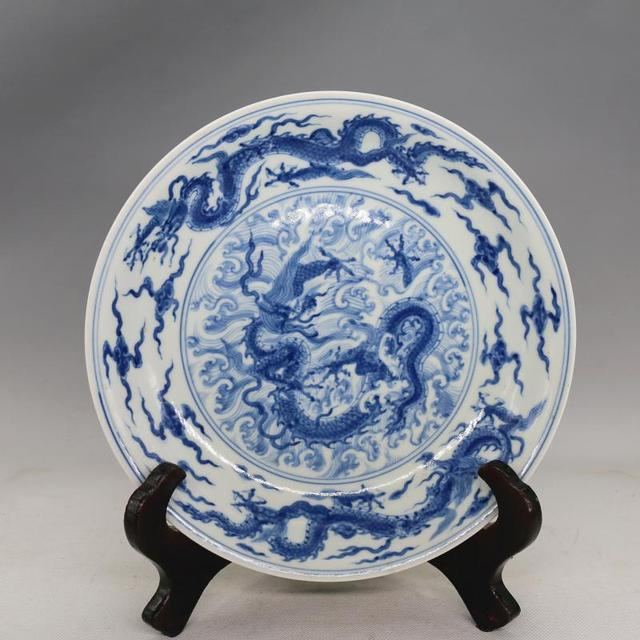 Antique MingDynasty porcelain plateBlue u0026 white dragon dishhand painted craftsDecorations & Antique MingDynasty porcelain plateBlue u0026 white dragon dishhand painted craftsDecorations collectionu0026AdornmentFree shipping-in Bowls u0026 Plates from ...