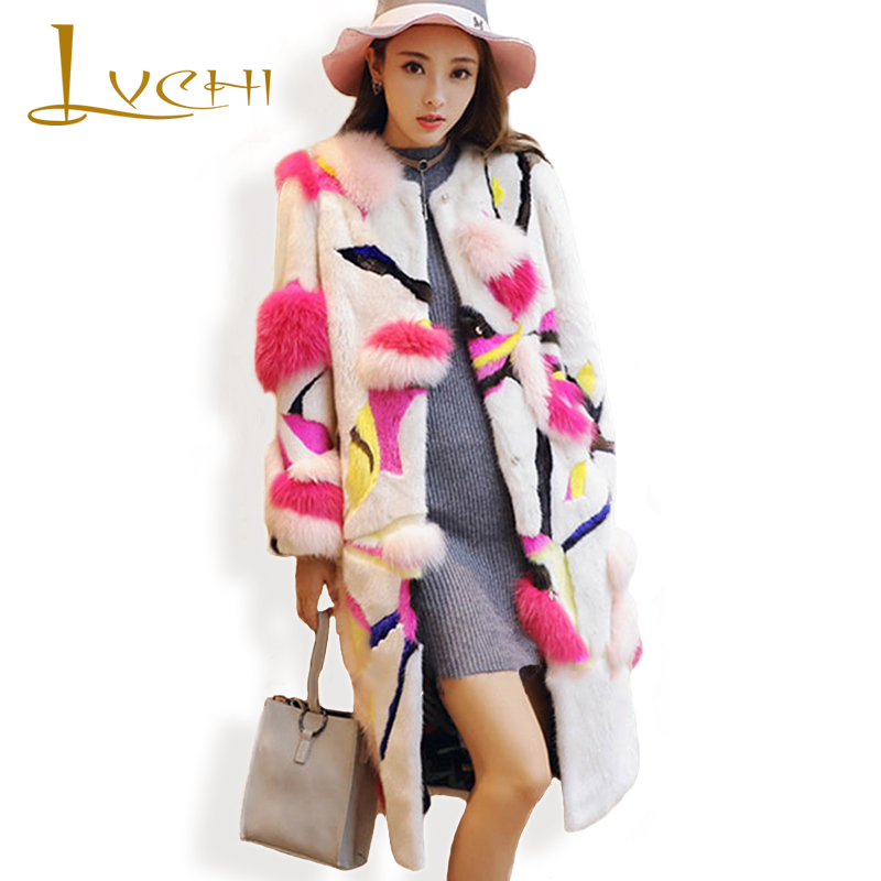 LVCHI 2019 Jaunā mode Dānijā Mink Swan Velvet sieviešu cēls - Sieviešu apģērbs