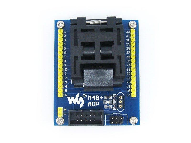 цена на M48+ ADP Atmega8 ATmega48 ATmega88 ATmega168 mega48 mega88 TQFP32 AVR Programming Adapter Test Socket + Freeshipping