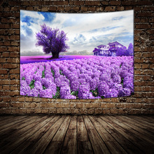 Sunflower Lavender Printed Flower Tapestry Mandala Living Room Decor Wall Hanging Home Decoration