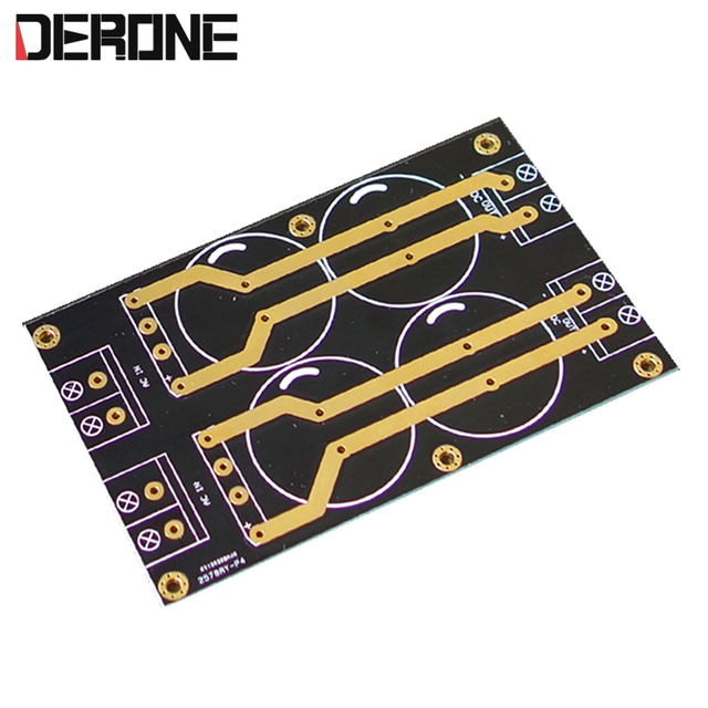 1 piece Double bridge rectifier PCB 2 way rectification filter PCB for hood1969 amplifier