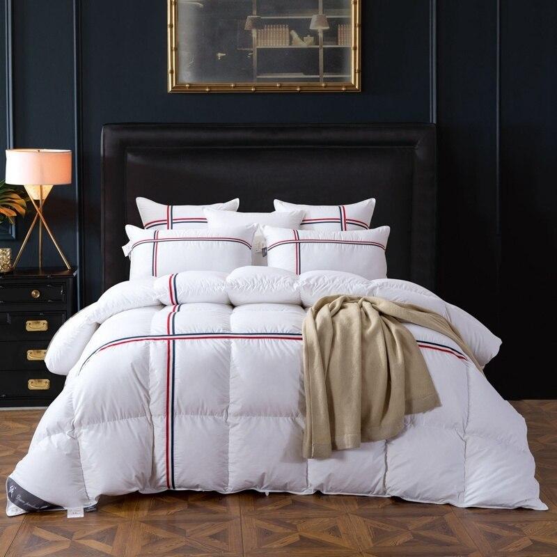 43061261877 TUTUBIRD Duck Goose Down Quilted Comforter Duvet Blanket White ...