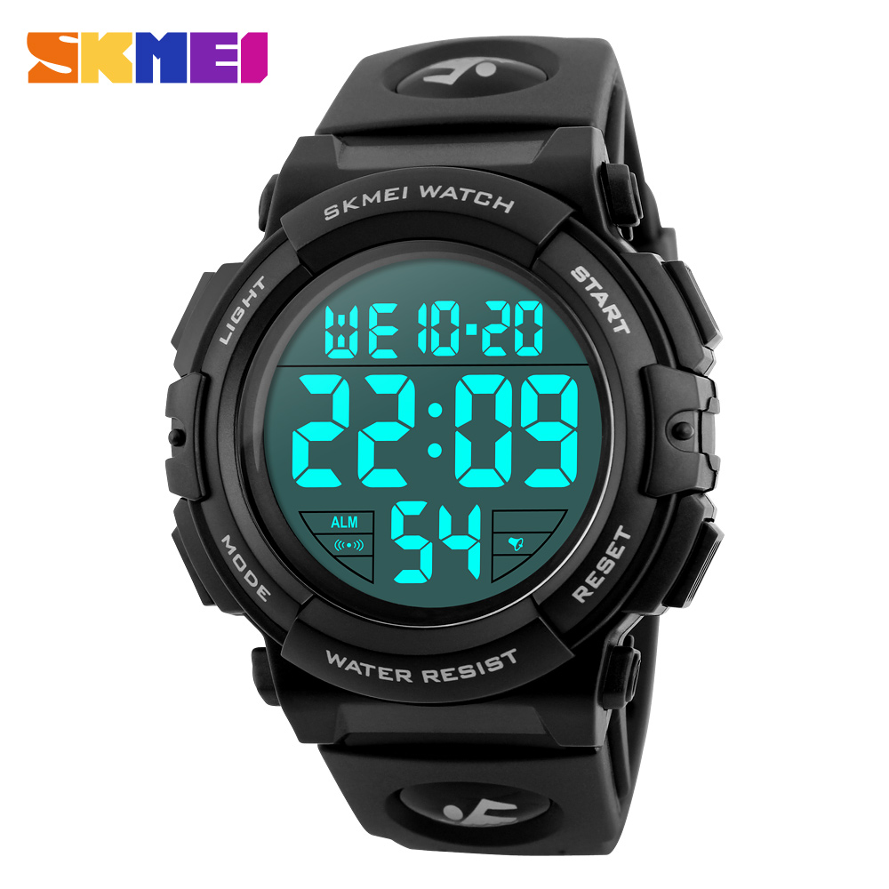 SKMEI Brand Men Sports Watches Fashion LED Digital Watch Military Multifunctional Wristwatches 50M Waterproof Relogio Masculino купить в Москве 2019