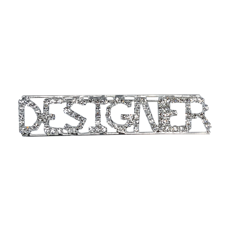 Custom Professions & Jobs Theme Crystal Lapel Pin DESIGNER Word Brooch Gift Wholesale 6PCS/LOT FREE SHIPPING
