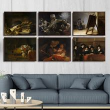 Home Decoration Art Wall Pictures Fro Living Room Poster Print Canvas Paintings Netherlandish Rembrandt van Rijn