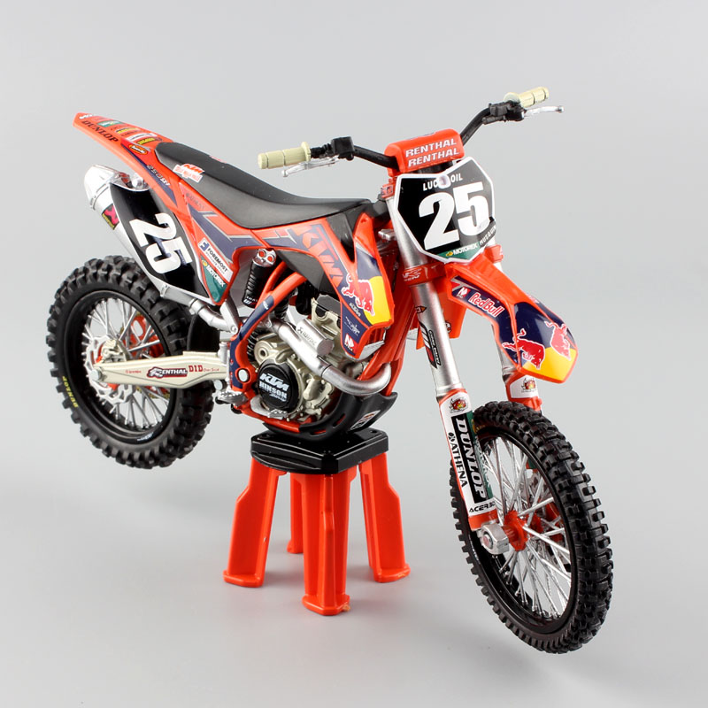 1 12 KTM 250SX F No 25 red bull racer SXF 2013 Marvin Musquin scale Motorcycle Diecast Model Motocross enduro MX dirt bike toys in Diecasts Toy Vehicles from Toys Hobbies