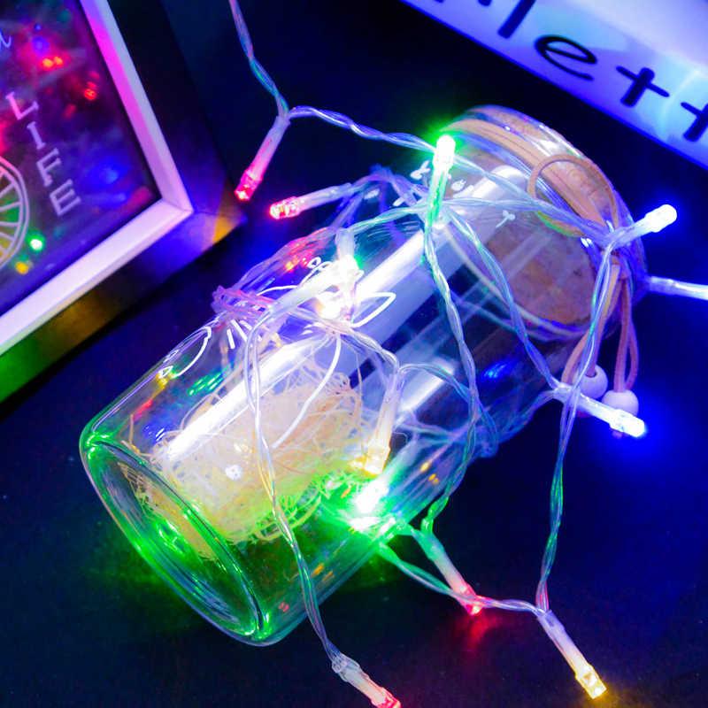 10 M 220V LED Dây Đèn Trắng Chống Nước Cho Khu Vườn Nhà Trang Trí Giáng Sinh Phụ Kiện Trang Trí Cây Thông Giáng Sinh Vật Trang Trí
