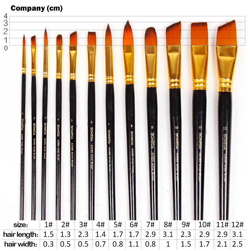 12Pcs Watercolor Paint Brush Set With Canvas Bag Point Flat Oblique Round Tip Oil Acrylic Painting Brush Pen Set Art Supplies in Paint Brushes from Office School Supplies