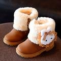 Invierno botas de Nieve Niñas Niños de la Felpa Botas de Cremallera de Goma zapatos de los Muchachos niños Martin Botas Zapatos Zapatillas de Deporte de La Muchacha Corta Párr Ninas