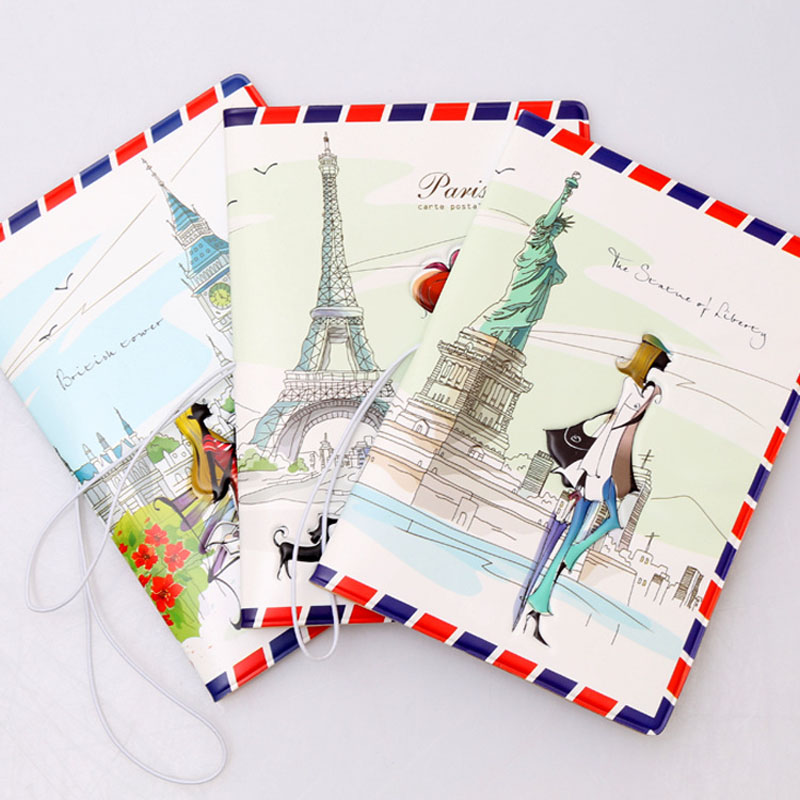 OKOKC 3D Stereo Fashion Passport Cover Character Love Travel Passport Holder Travel Accessories