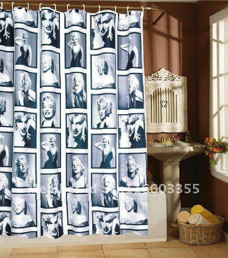 Cherishs MARYLIN*polyester shower curtain