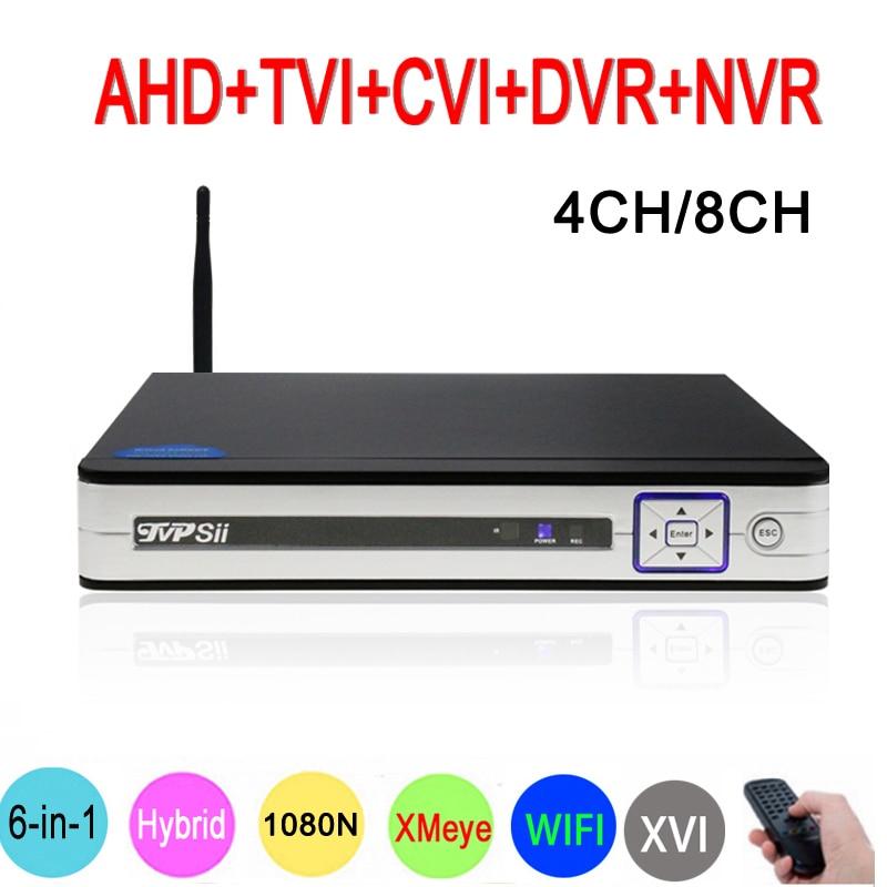 1080 P 2mp CCTV Камера серебристая Панель XMeye Hi3520D 1080N 4CH/8CH 6 в 1 Wi-Fi гибрид коаксиальный XVI NVR CVI TVi AHD DVR Бесплатная доставка