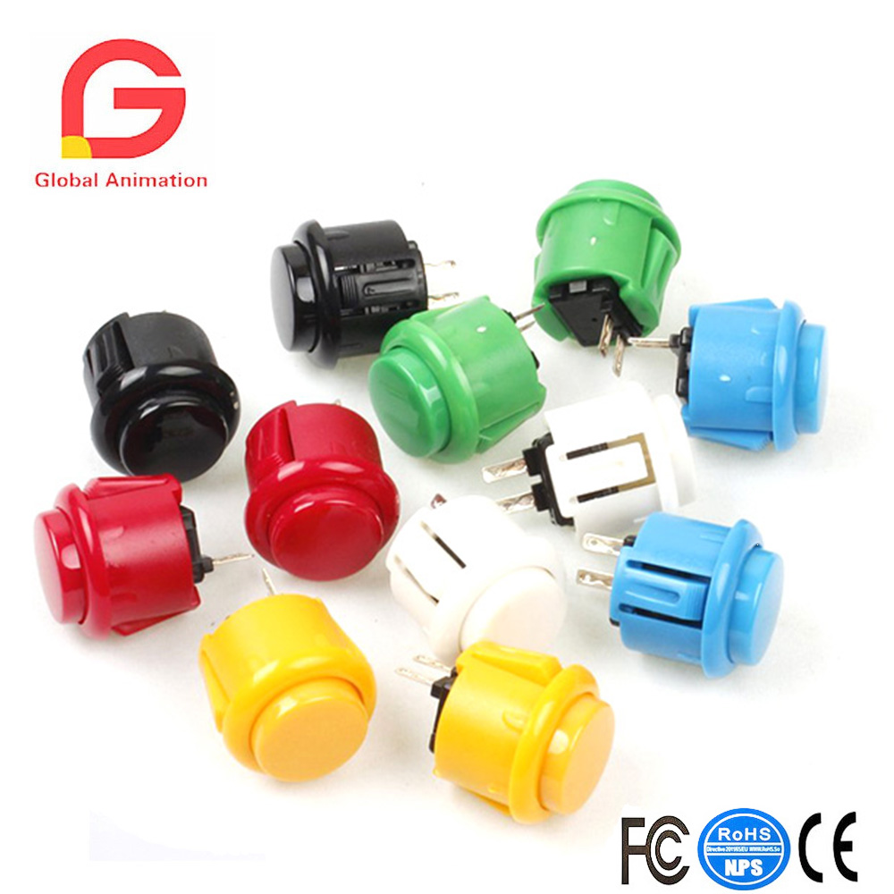 12x 24mm OEM Arcade Push Buttons Switch Perfect Replace For Sanwa OBSF-24 OBSC-24 OBSN-24 Push Button DIY Fighting Stick PC