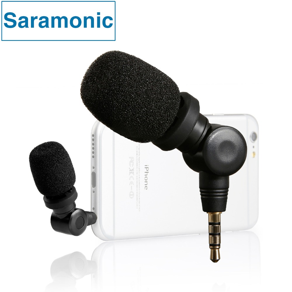 лучшая цена Saramonic iMic Flexible Condenser Microphone Mic with High Sensitivity for IOS iPad iPhone 5/6/7 iPod Touch Android Smartphone