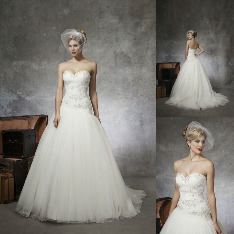 Wedding Gown 2013: 2013 Ball Gown Lace Wedding Dress Bridal Dresses