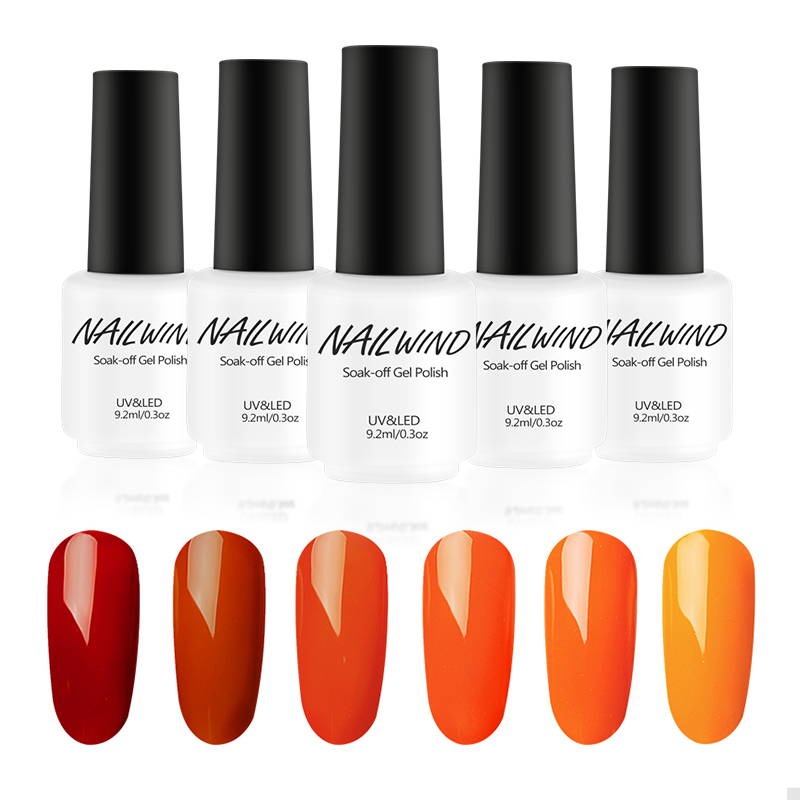 Nailwind Series 6 Colors Pumpkin Orange Color Gel Nail