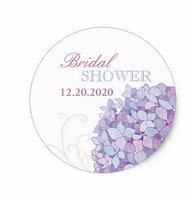 15inch purple southern hydrangeas bridal shower stickers