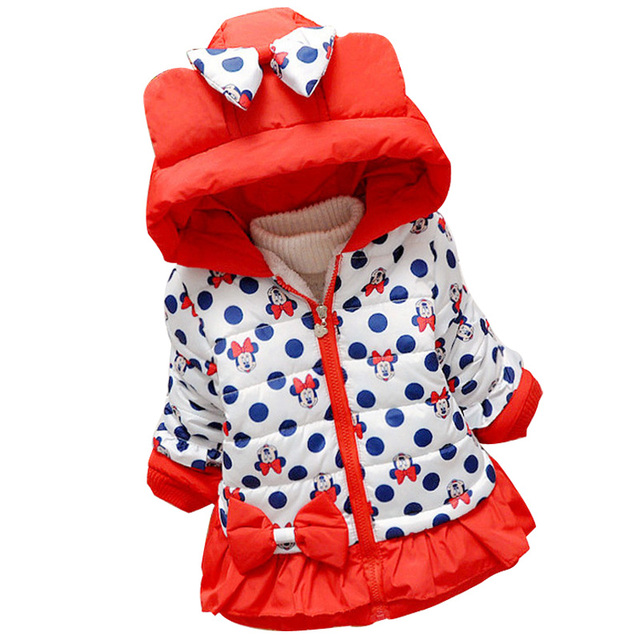 New Baby Girls Coat Children Outerwear Fashion Girl Jacket Baby Winter Warm Coat Hooded butterfly hooded jacket Kids Clothes