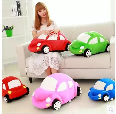 stuffed plush car shaped cushion throw pillow stuffed doll for birthday gift