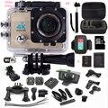 Câmera ação sj4000 pro estilo Ultra HD 4 K WiFi 1080 P/60fps 2.0 LCD 170 lente Capacete Cam ir câmera à prova d' água + monopé + extra cartão