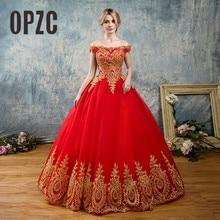 8 Lớp Đen Trắng Xanh Đỏ Vintage Lãng Mạn Vàng Ren Appliques Áo Váy Plus Kích Thước Áo Dài Cô Dâu Cổ Thuyền Tắt vai