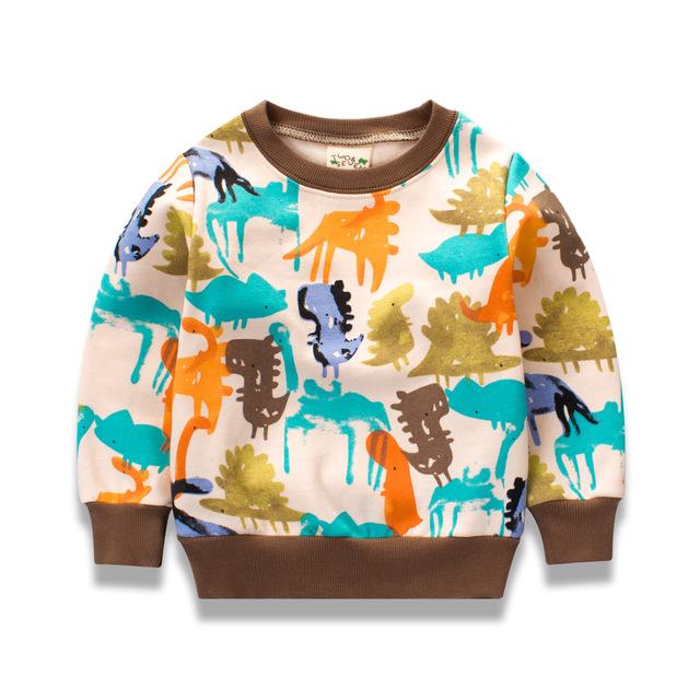Impressão pullover bebê meninos hoodies o pescoço de algodão kids clothing meninos top de manga longa roupas infantis menino moletom dd011