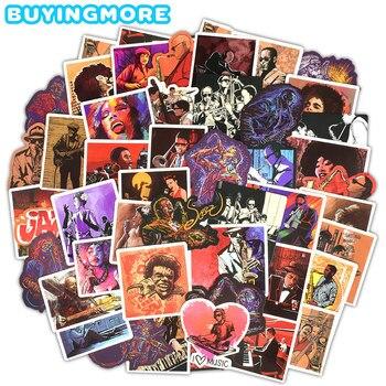 50 Uds. De pegatinas de Jazz Blues, saxofón de música Rock, pegatina...