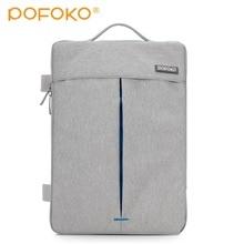 POFOKO Big Capacity 12 inch 11.6 13.3 15.4 Inch Laptop Handbag Shoulder Bag Protective Case Cover For Macbook Pro Air Reina